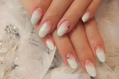 snowy with laces. #nails #nail_art #white