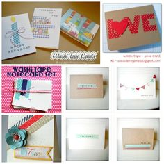 Washi Tape Cardmaking Ideas and more!