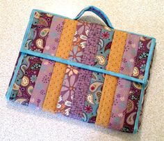 (7) Name: 'Quilting : Quilted Laptop Totes #525