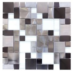 Stainless Steel Glass Backsplash Tile Pattern | Mineral Tiles