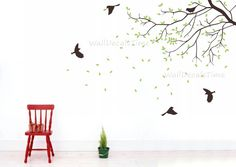 tree wall decals nursery wall decals branch vinyl wall decals children wall decals nature 40166. $48.00, via Etsy.