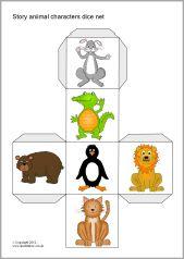 Story character dice nets (SB7425) - SparkleBox