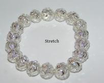 Swarvoski Crystal Stretch Bracelet White Free Shipping