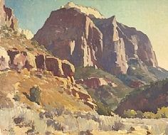 Mighty Zion by Glenn Dean Oil ~ 48 x 60 Contemporary Landscape, Landscape Art, Landscape Paintings, Oil Paintings, Classic Paintings, Beautiful Paintings, Western Landscape, Southwestern Art, Desert Art