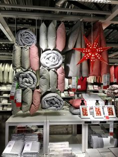 //ikea bedding display