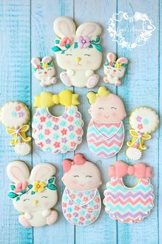 Colorful baby cookies