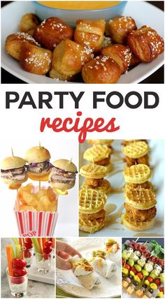 Party Food that is unique and sometimes mini - everyone will love these fun ideas!