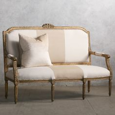 Eloquence One of a Kind Vintage Settee Masculine Gilt--3300!