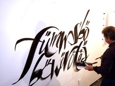Wall Lettering for Letterforming Exhibition by John Stevens, via Behance