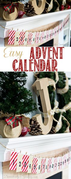 Quick and Easy Advent Calendar using gift bags and stickers!