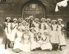 Nurses Graduation Class from Newberry Michigan circa 1900.