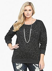 TORRID.COM - Animal Print Sweatshirt