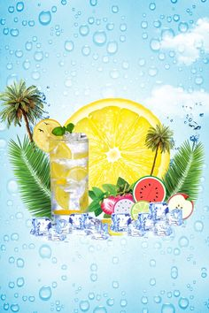 Ice cube summer cold drink summer