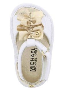 Complete her look in these Michael Kors baby girl sandals Baby Girl Sandals, Girls Sandals, Baby Girl Shoes, Girls Shoes, Little Baby Girl, Cute Little Girls, Baby Girl Fashion, Kids Fashion, Toddler Outfits
