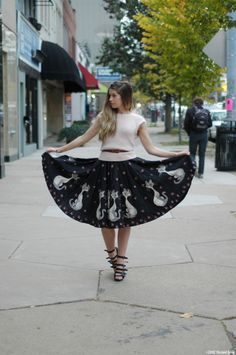 Orchid Grey: Meow We're Talking. Full cat skirt x