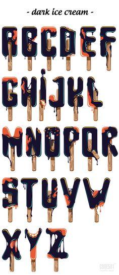 pinterest.com/fra411 #typographic - ice-cream TYPOGRAPHY