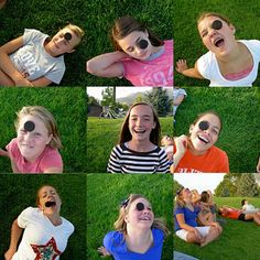 This game is too fun not to share with you! You place one oreo on the forehead of each kid. The goal is to get the Oreo into your mouth (yum) with no hands. FUNNY FACES WILL BE MADE