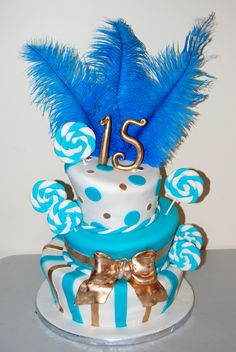 Leelees Cake-abilities: Topsy Turvey Turquoise & Gold