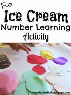 Ice Cream cone counting activity for preschool
