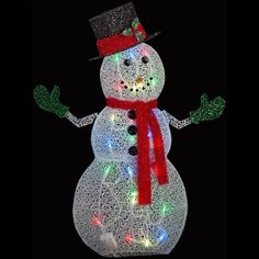 Turn your holiday decoration into a dazzling display of light by choosing this APPLights Crystal Swirl Snowman Lighted Yard Sculpture. Christmas Light Show, Christmas Lights, Christmas Ornaments, Merry Christmas, Christmas Yard Decorations, Paper Decorations, Holiday Decor, Yard Sculptures, Beautiful Christmas