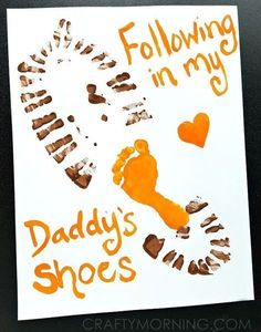 Looking for something cute and budget friendly to make for dad for Father's Day? Check out these Father's Day Handprint and Footprint Craft Ideas. clever fathers day gifts, diy gifts for dad birthday, mom gifts Crafts For Kids To Make, Gifts For Kids, Kids Diy, Crafts For Babies, Diy Father's Day Gifts From Baby, Newborn Crafts, Diy Father's Day Cards, Fathers Day Art, Fathers Day Kids Crafts