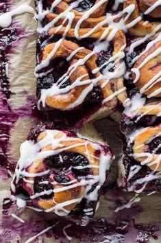Vegan lemon blueberry rolls