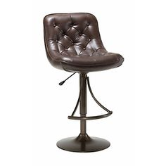 Hillsdale Furniture Aspen Adjustable-Height Swivel Bar Stool with Copper Finish and Brown Cushion (for sewing area)  HSN.com