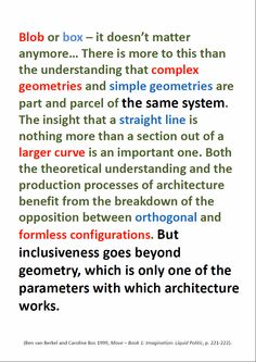 Ben van Berkel and Caroline Bos about inclusive systems in architecture.