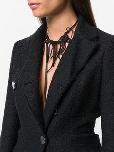 Ann Demeulemeester loop tied necklace