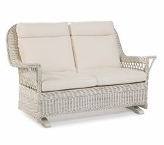 Hemingway Wicker Double Glider by wicker liked... | Wicker Furniture  wickerparadise.com
