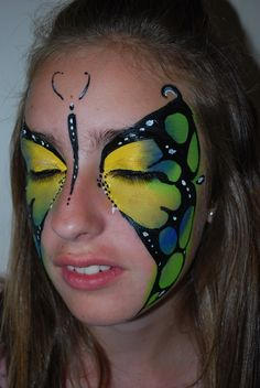 butterfly face painting / face art  J.Broomhall makeup artist & body art