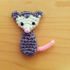 free pattern : possum arumigami by Trish Young