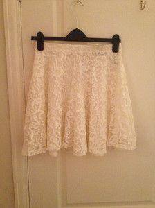 H&M Cream Lace Skirt $15