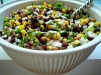 Gluten Free Black Bean and Corn Salad.  Always a crowd pleaser!