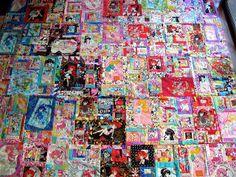 anime girls quilt