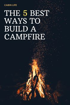 A campfire lay, the method used to assemble a campfire before lighting it, determines how that fire will burn. Learn about the five most useful lays, and when and how to use each. Cabin Activities, Backpacking, Camping, Outdoors, Fire, Crafty, Lighting, Building, Nature