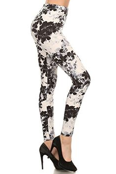 d93cc9924bd3b Depot Women's Buttery Soft Classic Fashion Print Leggings BAT4