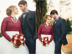Bride in flannel. Love this!  | by JoPhoto | styled by The Bride Link and Custom Love Gifts
