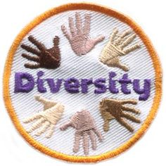 Diversity, Hands, Circle, Different, Colours, Skin, Patch, Embroidered Patch, Merit Badge, Badge, Emblem, Iron On, Iron-On, Crest, Lapel Pin, Insignia, Girl Scouts, Boy Scouts, Girl Guides