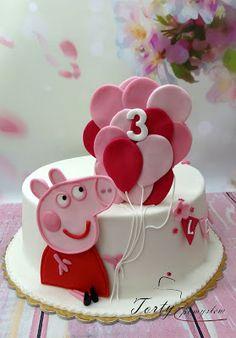 TORTY Z POMYSŁEM Kraków Peppa Pig is usually a British isles toddler cartoon television system Bolo Da Peppa Pig, Peppa Pig Birthday Cake, Birthday Bash, Anniversary Cake Designs, Balloon Cake, Hello Kitty Cake, Barbie Cake, Baking With Kids, Cake Decorating Tips