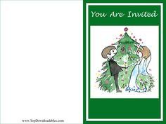 Christmas wedding invitation template and free printable kit for #Christmas #weddings