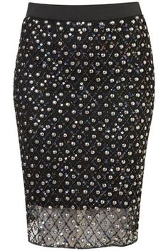 Premium Sequin Pencil Skirt