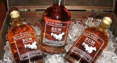 Wild Days Rum Whiskey Bottle, Rum, Canning, Drinks, Gifts, Drinking, Beverages, Presents, Drink
