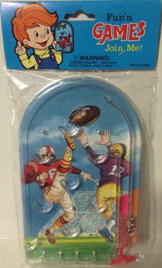 (TAS032249) - Vintage Fun'n Games Toy Football Pinball Game