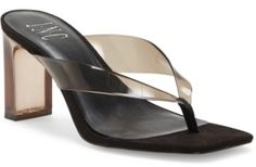 Inc Women's Myrene Clear Vinyl Toe-Thong Sandals, Created for Macy's Women's Shoes