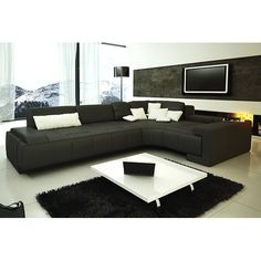 TOSH Furniture TOS-LF-1007 Franco Modern Sectional Sofa