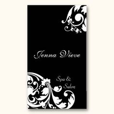 salon buisness card images | Makeup Artist Name Cards · Spa & Salon Business Card Monogram Black ...