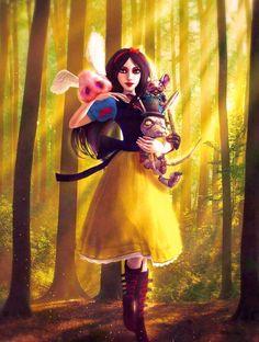Alice Liddell Madness Returns by xDreamingFantasYx on DeviantArt Alice In Wonderland Artwork, Alice And Wonderland Quotes, Adventures In Wonderland, Alice Liddell, Maladaptive Daydreaming, Alice Madness Returns, Fairytale Fantasies, Were All Mad Here, Disney Fan Art