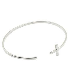 Calvary Sterling Silver Cross Open Cuff Bracelet #Dillards