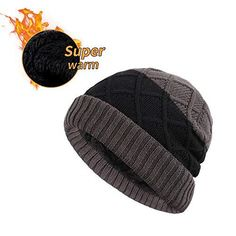 4d7f04fb39c6f9 XIAOHAWANG Winter Men Hat Wool Knit Outdoor Beanie Warm Chunky Skull Cap  Knitted #fashion #clothing #shoes #accessories #mensaccessories #hats (ebay  link)